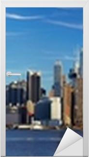 Nálepka na Dveře Manhattan panorama panorama, New York City
