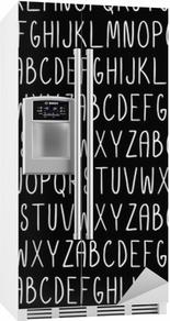 Nálepka na ledničku Bezešvé vzor s abecedou. vektorové bezešvé textury pro tapety, vzory výplně, pozadí webové stránky