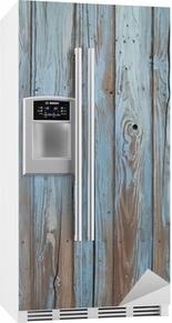Nálepka na Ledničku Staré modré dřevěné stěny