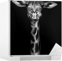 Nálepka na Ledničku Žirafa v černé a bílé