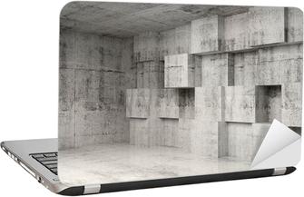 e067f6f69c Plakát Abstract beton 3d interiér s kostkami na zeď • Pixers® • Žijeme pro  změnu