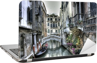 Nálepka na Notebook Gondel, Palazzi und Bruecke, Venedig, Itálie