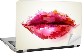 Nálepka na Notebook Krásné ženách rty tvořená abstraktními blot