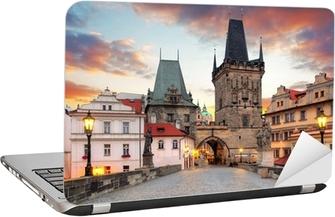 Nálepka na notebook Praha Pohled z Karlova mostu