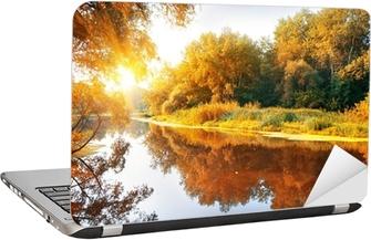 Nálepka na Notebook Řeka v nádherné podzimním lese