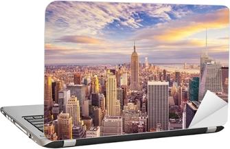 Nálepka na Notebook Západ slunce pohled na New York City při pohledu na Manhattanu