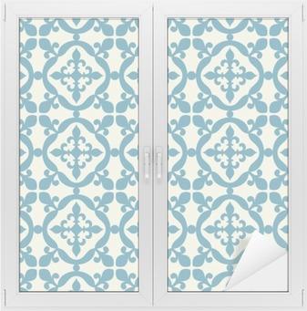 Nálepka na Sklo a Okna Bezešvé vzor. Portugalština, marocká, španělská dlaždice.