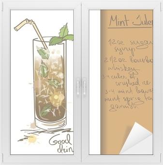 Fototapeta Ilustrace S Rucne Kreslenymi Mint Whisky Koktejl Pixers