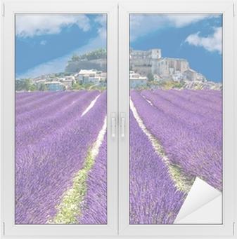 Nálepka na sklo a okna Lavande en Provence, obec Provençal en France