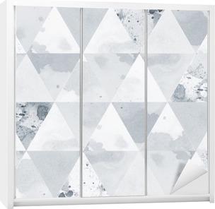 Nálepka na Skříň Black and White Pattern