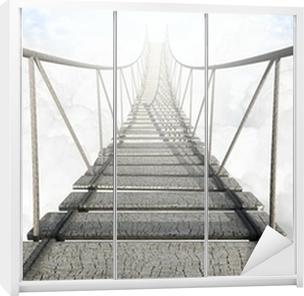 Nálepka na skříň Lanový most nad mraky