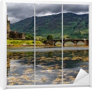 Nálepka na Skříň Panoramatické Eilean Donan Castle, Highlands, Skotsko