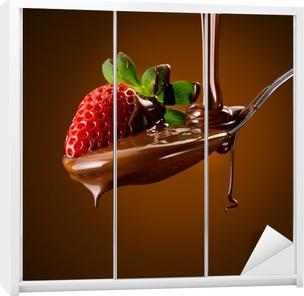 Nálepka na skříň Strawberry Chocolate