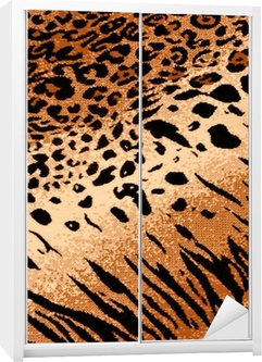 Nálepka na skříň Tiger Cheetah Print pozadí