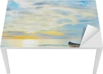Nálepka na Stůl a Pracovní Stůl Beach panorama
