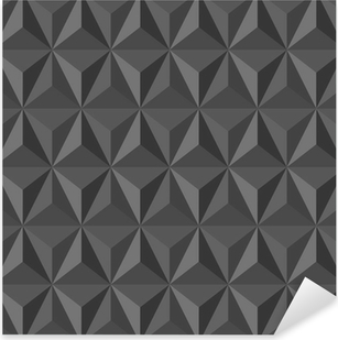 Nálepka Pixerstick Neobvyklé vinobraní abstraktní geometrický vzor.