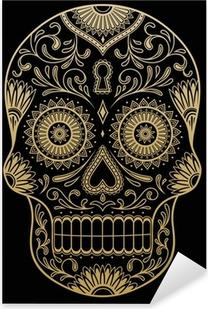 Nálepka Pixerstick Ozdobený Jedna barva Sugar Skull