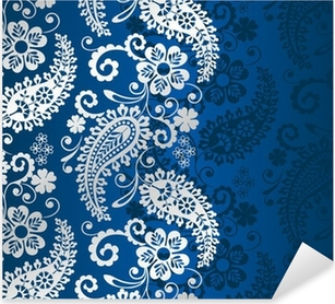 Nálepka Pixerstick Paisley květinovým vzorem, textil, Rajasthan, Indie královský