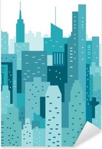 Nálepka Pixerstick Panoráma geometrické vektorové ilustrace. CityLine. městskou krajinu