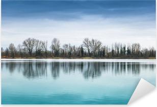 Nálepka Pixerstick Panorama lacustre