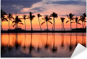 Nálepka Pixerstick Paradise Beach Sunset tropické palmy