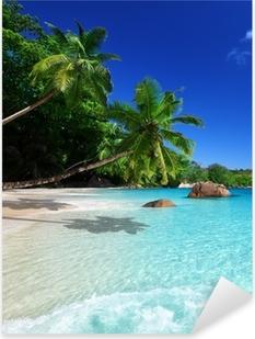Nálepka Pixerstick Pláž u Ostrov Praslin, Seychely