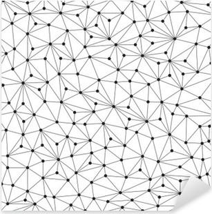 Nálepka Pixerstick Polygonální pozadí, bezešvé vzor, čáry a kruhy