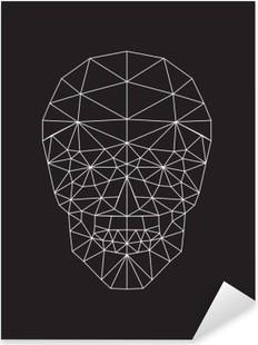 Nálepka Pixerstick Polygonální vektor saké.