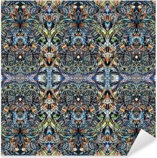 Nálepka Pixerstick Pozadí tkaniny indian style