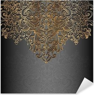 Nálepka Pixerstick Původní karta s černým a zlatým designem