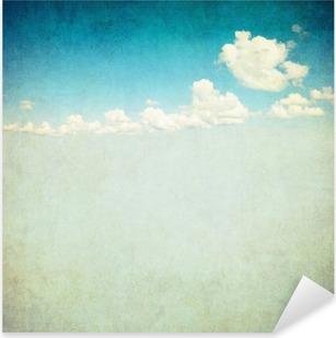 Nálepka Pixerstick Retro image zatažené obloze