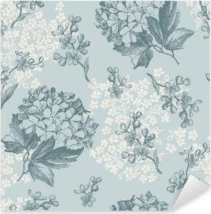 Nálepka Pixerstick Retro květinové tapety - dlaždice hladce