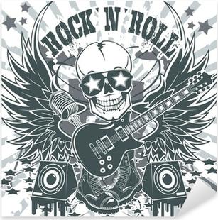 Nálepka Pixerstick Rock n roll symbol