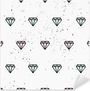 Nálepka Pixerstick Ručně malovaná Diamonds bezešvé vzor