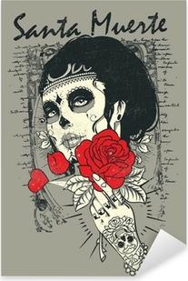 Nálepka Pixerstick Santa Muerte Rose