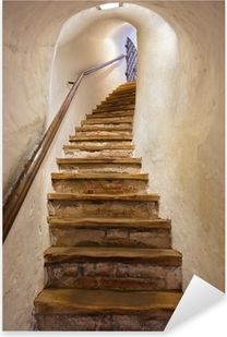 Nálepka Pixerstick Schody v hradě Kufstein - Rakousko