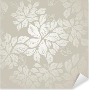 Nálepka Pixerstick Seamless stříbrná listy tapety