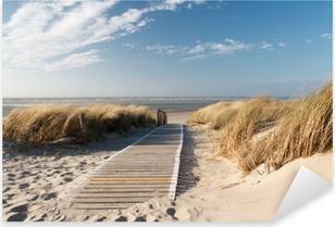 Nálepka Pixerstick Severní moře pláž v Langeoog