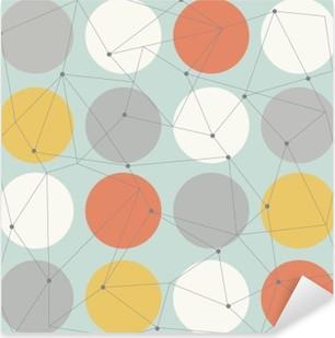 Nálepka Pixerstick Skandinávský geometrické moderní bezešvé vzor