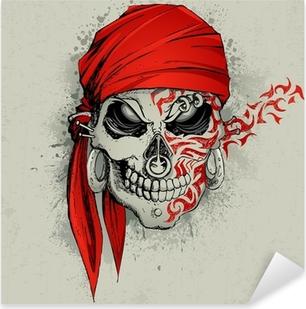 Nálepka Pixerstick Skull pozadí