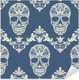 Nálepka Pixerstick Skull Swirl dekorativní vzor