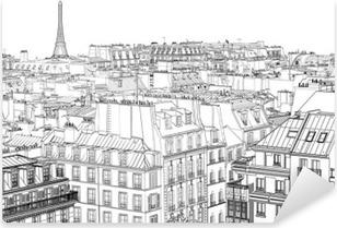 Nálepka Pixerstick Střechy v Paříži