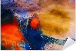 Nálepka Pixerstick Sušené pruhy vícebarevné nátěrové barvy s trhlinami