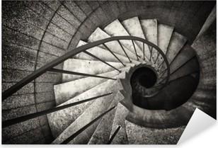 Nálepka Pixerstick Točité schodiště