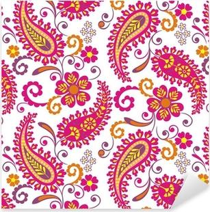 Nálepka Pixerstick Tradiční paisley květinovým vzorem, textil, Rajasthan, Indie