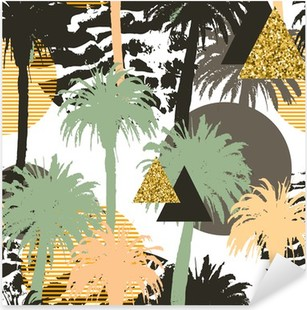 Nálepka Pixerstick Tropické palmy