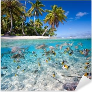Nálepka Pixerstick Tropický ostrov
