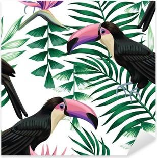 Nálepka Pixerstick Tukan tropický vzor