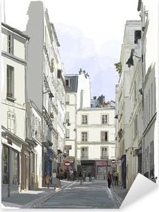 Nálepka Pixerstick Ulice poblíž Montmartru v Paříži