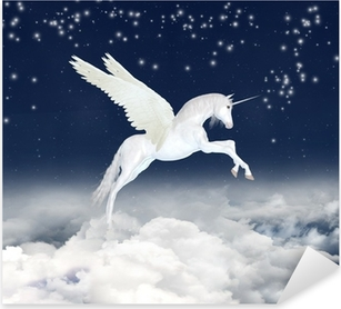 Nálepka Pixerstick Unicorn na obloze